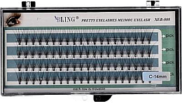 """Парфюми, Парфюмерия, козметика Мигли на снопчета """"С"""", 14 мм - Bling Pretty Eyelashes"""