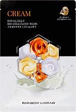Парфюмерия и Козметика Маска за лице с пчелно млечице - Rainbow L'Affair Royal Jelly Bio Cellulose Mask