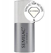 Парфюмерия и Козметика Топ лак за нокти - Semilac UV Hybrid No Wipe