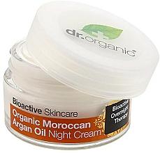 Парфюмерия и Козметика Нощен крем за тяло с мароканско арганово масло - Dr. Organic Bioactive Skincare Organic Moroccan Argan Oil Night Cream
