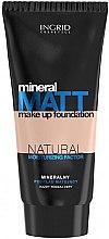 Парфюмерия и Козметика Матиращ фон дьо тен с минерали и натурални хидратиращи компоненти - Ingrid Cosmetics Mineral Matt Make Up Foundation