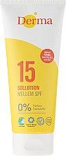 Парфюмерия и Козметика Слънцезащитен лосион - Derma Sun Lotion SPF 15