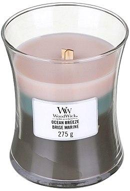 Ароматна свещ в чаша - WoodWick Hourglass Trilogy Candle Ocean Breeze — снимка N1