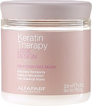 Парфюми, Парфюмерия, козметика Маска за коса, овлажняваща - Alfaparf Lisse Design Keratin Therapy Rehydrating Mask