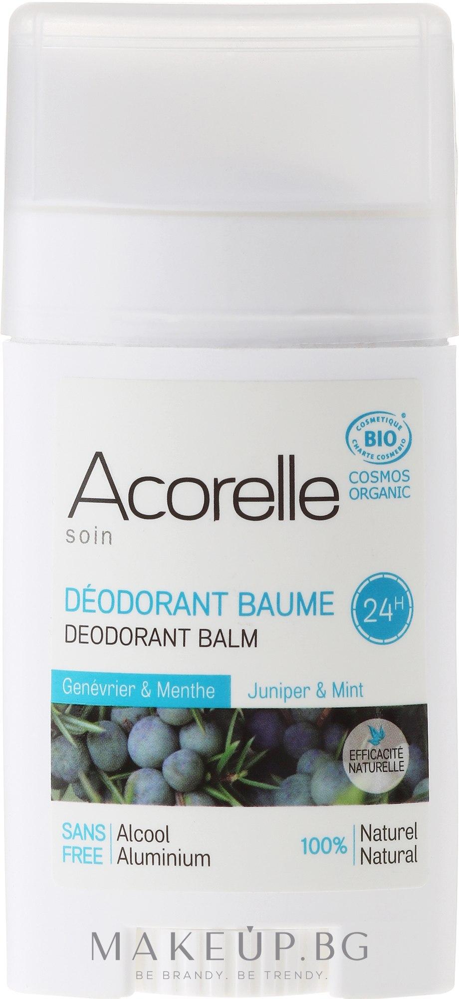 Дезодорант-балсам с аромат на хвойна и мента - Acorelle Deodorant Balm — снимка 40 g