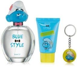 Парфюмерия и Козметика Marmol & Son The Smurfs Vanity - Комплект (тоал. вода/100ml + душ гел /75ml + ключодържател)