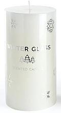 Парфюмерия и Козметика Ароматна свещ, бяла, 7х8см - Artman Winter Glass