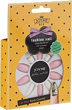 Парфюмерия и Козметика Комплект изкуствени нокти, бяло с розово - Donegal Express Your Beauty