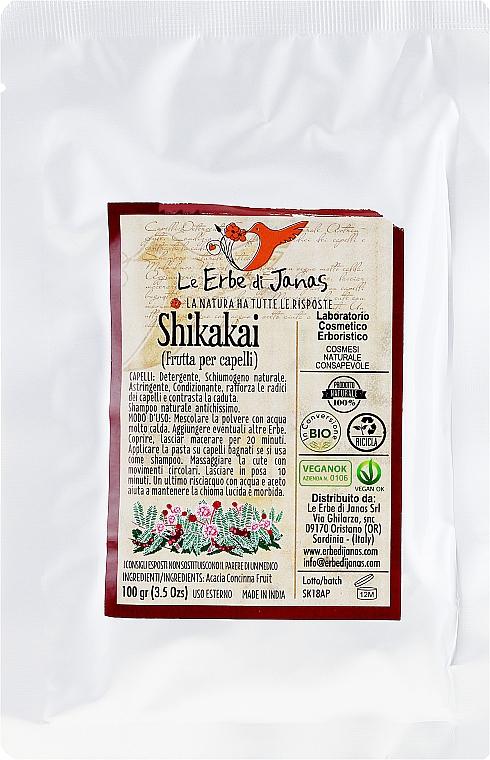 Натурален прах за коса от Шикакай - Le Erbe di Janas Shikakai — снимка N1