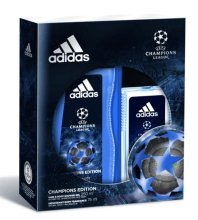 Парфюми, Парфюмерия, козметика Adidas UEFA Champions League Arena Edition - Комплект (душ гел/250ml + дезодорант спрей/75ml)