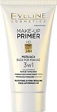 Парфюмерия и Козметика Матираща база под грим - Eveline Cosmetics Make-up Primer 3v1