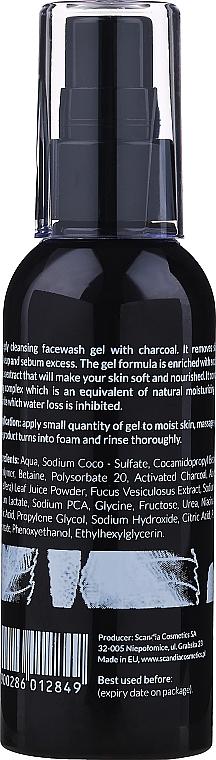 Измиващ гел за лице с активен въглен - Scandia Cosmetics Face Wash Gel — снимка N2