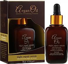 Парфюмерия и Козметика Нощен възстановяващ серум за лице - Xpel Argan Oil Night Repair Serum