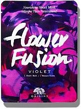 Парфюмерия и Козметика Подхранваща маска за лице от плат с екстракт от виолетка - Origins Flower Fusion Violet Nourishing Sheet Mask