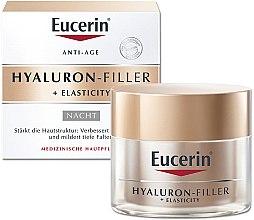 Парфюми, Парфюмерия, козметика Нощен крем за лице против стареене - Eucerin Hyaluron-Filler + Elasticity Night Cream