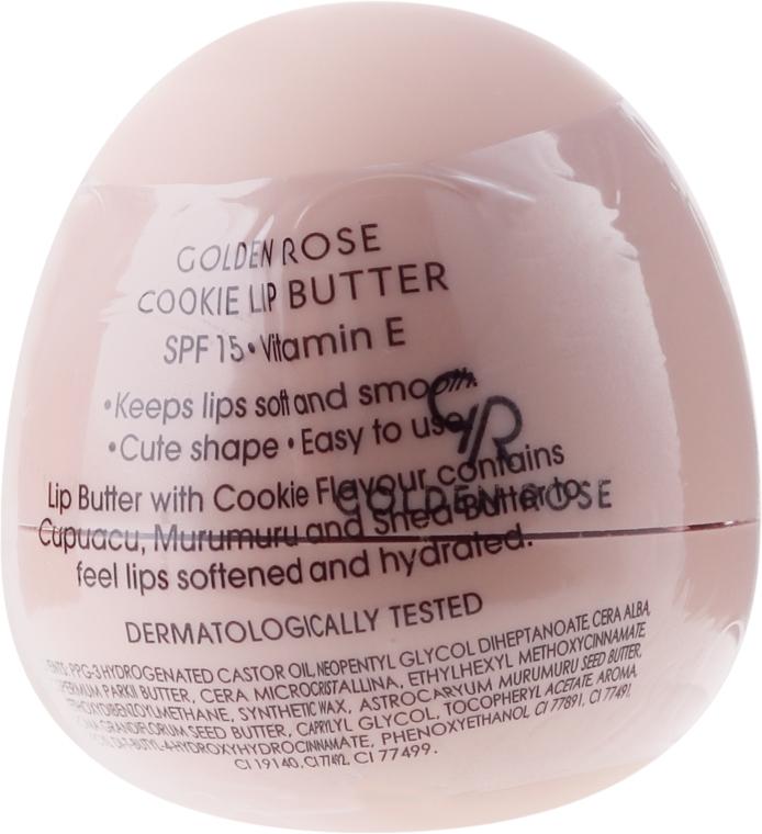 Балсам-масло за устни, бисквитка - Golden Rose Lip Butter SPF15 Cookie