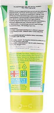 """Измиващ гел за лице """"Чаено дърво"""" - Beauty Formulas Tea Tree Exfoliating Facial Wash — снимка N2"""