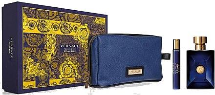 Versace Pour Homme Dylan Blue - Комплект (edt/100ml + edt/10ml + козм. чанта) — снимка N1
