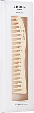 Професионален позлатен гребен за коса 14k - Balmain Paris Hair Couture Golden Styling Comb — снимка N2