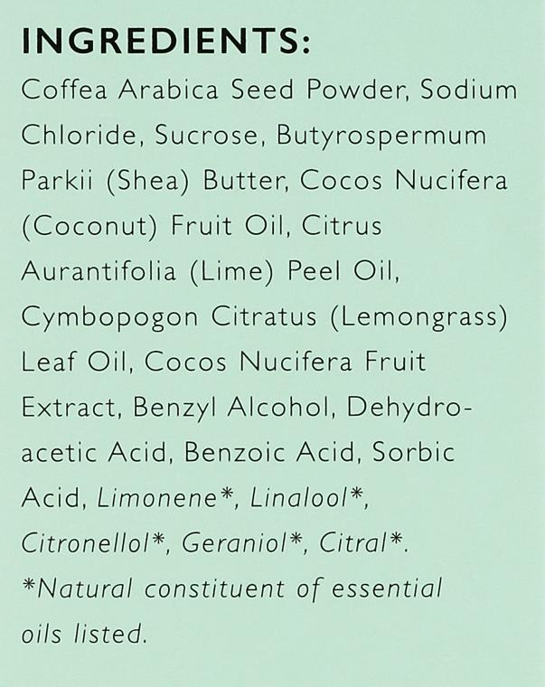 Кофеинов скраб за тяло с лимонова трева - Upcircle Coffee Body Scrub With Lemongrass — снимка N4