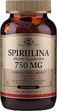 Парфюмерия и Козметика Хранителна добавка Спирулина на таблетки - Solgar Spirulina Plant Plankton