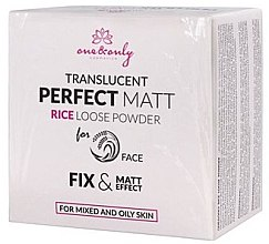 Парфюми, Парфюмерия, козметика Насипна оризова пудра - One&Only Cosmetics For Face Translucent Perfect Matt Rice Loose Powder