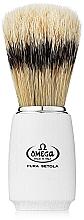 Парфюмерия и Козметика Четка за бръснене, 11711, кремава - Omega