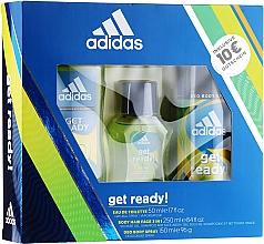 Парфюмерия и Козметика Adidas Get Ready for Him - Комплект (тоал. вода/50ml + део/150ml + душ гел/250ml)