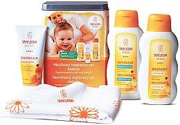 Парфюмерия и Козметика Комплект за бебета - Weleda Baby Calendula Set (крем за тяло/75ml+мляко за баня/200ml+масло за тяло/200ml)