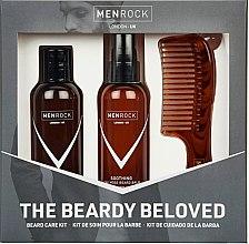 Парфюмерия и Козметика Комплект за брада - Men Rock Soothy Beardy Beloved Oak Moss Starter Kit (балсам/100ml + сапун/100ml + гребен/1бр)