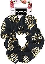 Парфюмерия и Козметика Ластик за коса, 417609, златисто-черен - Glamour