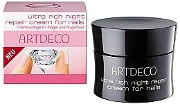 Парфюмерия и Козметика Интензивен възстановяващ крем за кожички и нокти - Artdeco Ultra Rich Night Repair Cream For Nails