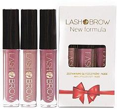 Парфюми, Парфюмерия, козметика Комплект червила - Lash Brow Mini Lip Gloss Set Nude (lip/gloss/3x3ml)