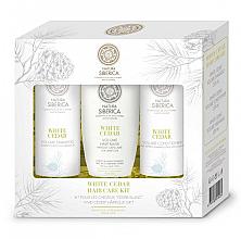 Парфюмерия и Козметика Комплект за коса - Natura Siberica White Cedar Hair Care Kit (шампоан/250ml + балсам/250ml + маска/200ml)