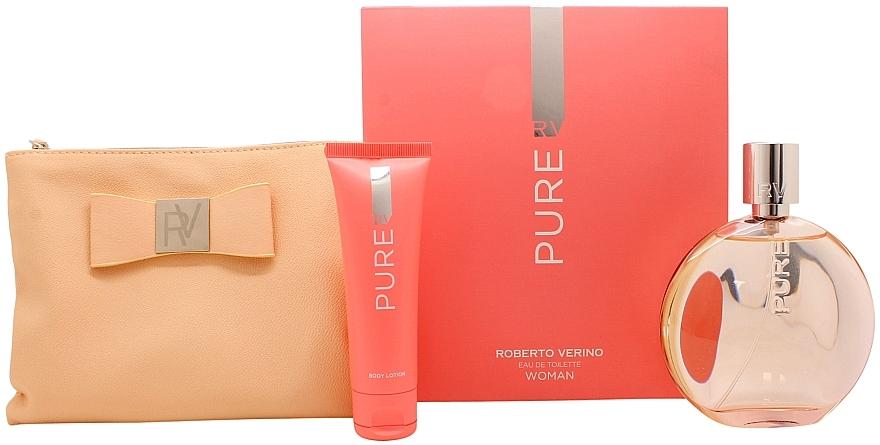 Roberto Verino Pure for Her - Комплект (тоал. вода/120ml + лосион за тяло/50ml + несесер) — снимка N1