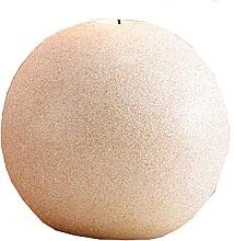 Парфюмерия и Козметика Декоративна свещ, топка, розово-златиста, 8 см - Artman Glamour