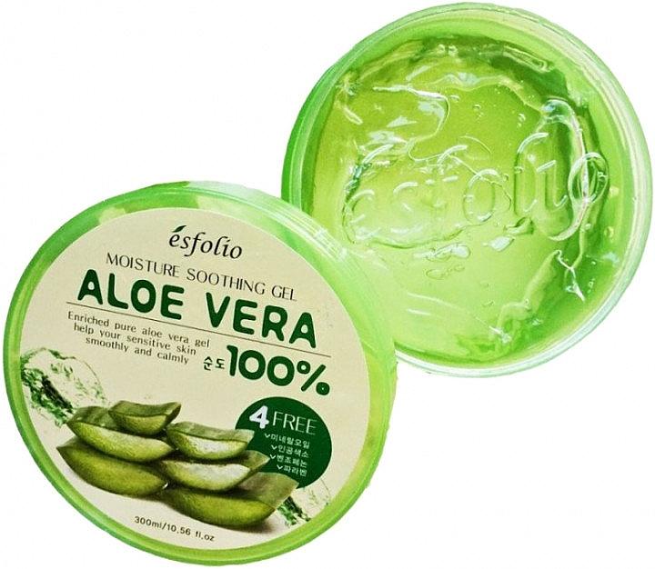 Хидратиращ гел за лице с алое - Esfolio Moisture Soothing Gel Aloe Vera 100% Purity — снимка N3