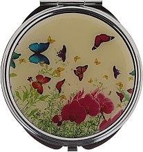 "Парфюми, Парфюмерия, козметика Компактно огледалце, ""Пеперуди"" 85444, роза - Top Choice"
