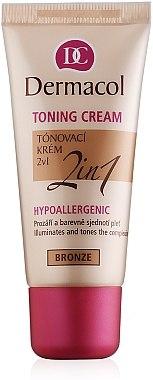 Тониращ крем и основа за лице 2в1 - Dermacol Make-Up Toning Cream — снимка N1