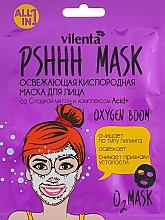 Парфюмерия и Козметика Освежаваща кислородна маска за лице със сладка мента и комплекс Acid+ - Vilenta Pshhh Mask