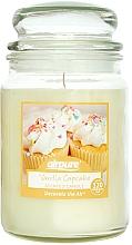 """Парфюмерия и Козметика Ароматна свещ """"Ванилови кексчета"""" - Airpure Jar Scented Candle Vanilla Cupcake"""