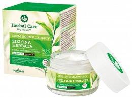 "Парфюми, Парфюмерия, козметика Нормализиращ крем за лице ""Зелен чай"" - Farmona Herbal Care Normalising Cream"
