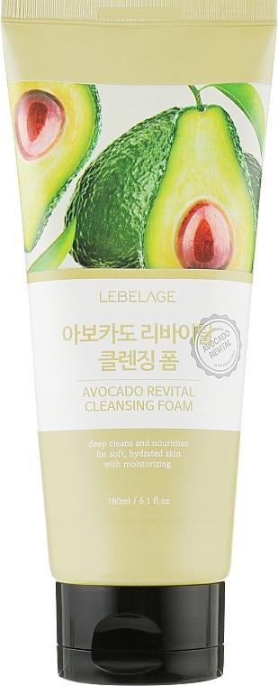 Възстановяваща измиваща пяна за лице с екстракт от авокадо - Lebelage Avocado Revital Cleansing Foam — снимка N2
