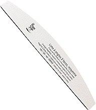 Парфюмерия и Козметика Двустранна пила за нокти 180/180, бяла - Peggy Sage 2-way Washable Half-Moon Medium Nail File