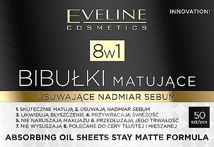 Матиращи листчета за лице - Eveline Cosmetics 8in1 — снимка N1