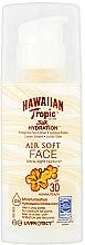 Парфюмерия и Козметика Слънцезащитен лосион за лице - Hawaiian Tropic Silk Hydration Air Soft Face Protective Sun Lotion SPF 30