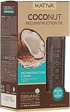 Парфюмерия и Козметика Възстановяващо масло за коса - Kativa Coconut Reconstruction Oil