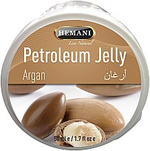 Парфюмерия и Козметика Вазелин с маслом аргана - Hemani Petroleum Jelly With Argan
