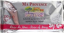 """Парфюмерия и Козметика Сапун от Марсилия """"Майска роза"""" - Ma Provence Marseille Soap Rose of May"""
