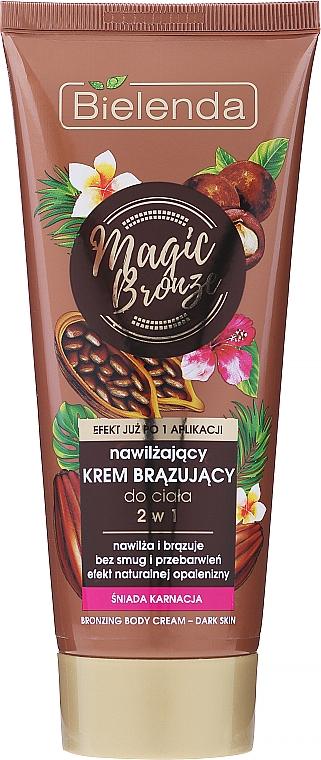 Бронзиращ хидратиращ крем за тяло - Bielenda Magic Bronze 2in1 Moisturizing Bronze Cream For Dark Skin